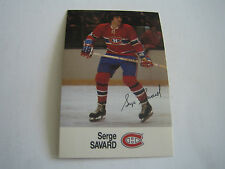1988/89 ESSO NHL ALL-STAR COLLECTION SERGE SAVARD CARD***MONTREAL CAPITALS***