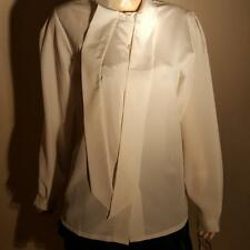 NEW NWT RARE OLD STOCK LA BLOUSE TISSUE LIQUID SILKY SUIT SHIRT TIE BOW 10