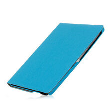 LIGHT BLUE DENIM DESIGN LEATHER CASE CC SLOTS SAMSUNG GALAXY NOTE 10.1 2014