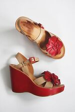 Anthropologie Shoes KORK EASE FLOWER WEDGE SANDALS Hippie 70s Platform Comfort 6
