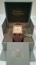 Vivienne Westwood Time Machine 'Cube II' Ladies Watch gold dial VV008GDBR