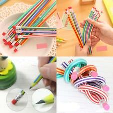 3X Bendable Flexible Soft Pencil With Eraser For Kids Writing Student Stationery