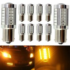 10x Amber Yellow 1156 BAU15S PY21W 33SMD LED Reverse Turn Stop Brake Signal Bulb