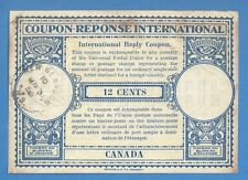 1956 CANADA INTERNATIONAL REPLY COUPON 12 CENTS 1017