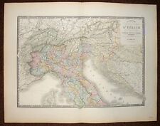 ITALIA ITALIE DU NORD carte geographique ancienne par BRUE et LEVASSEUR 1875