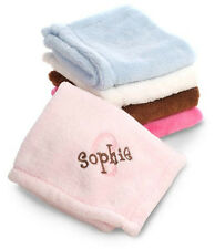 Personalized Baby Blanket with Name Embroidered Fleece New Gift Girl Boy Blue