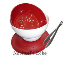 Tupperware Allegra Antipastiera Delizio Rot 1 Lit  + Zange