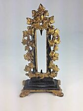 ANTIQUE CAST IRON PICTURE Brass Cover / MIRROR FRAME