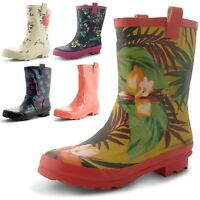 Ladies Womens Wellington Boots Rubber Festival Girls Waterproof Wellies Size