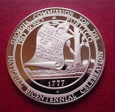 GEORGIA - Official Sterling Silver Bicentennial PROOF Medal