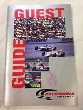 1997  California Speedway Guest Guide. Indy Car, NASCAR, Autographed