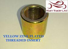 M18 X 1.5MM mano izquierda inserción roscada/Adaptador De Tubo-Amarillo Cinc Plateado