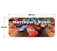 Cars 2 Lightning McQueen Personalised Childrens Bedroom Door Plaque Sign Girls