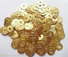 100PCS Feng Shui Chinese Yellow Five Emperors auspicious Coins Lucky Round Coin