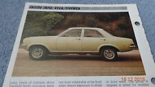 Vauxhall Viva Firenza 71 - 80 car data info sheet spec history pic car fix it