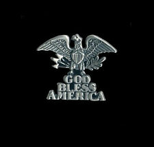 GOD BLESS AMERICA EAGLE VEST PIN MADE IN THE USA