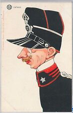 CARTOLINA d'Epoca - CATANIA : COSTUME MILITARE - Illustrata