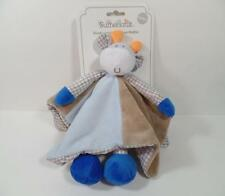 New Sumersault Plush Minky Fur & Gingham COW Security Blanket Rattle Toy