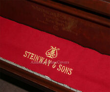 Steinway Piano Key Cover - Red Felt Embroidered Keyboard Cover