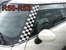 A-Säulen Checkered Flagg Aufkleber Pillar Decal f. BMW MINI COOPER R50 One Works