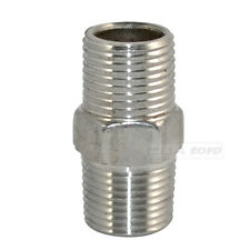 """Hex Nipple 3/8"""" Male x 3/8"""" Male 304 Stainless Steel threaded Pipe Fitting NPT"""