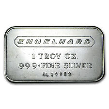 1 oz Engelhard Silver Bar - Engelhard Logo