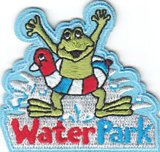 """""""WATER PARK"""" w/FROG PATCH/Iron On Applique/Swimming, Fun, Adventure"""