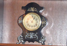 Antique new haven cast iron mantel clock working includes key