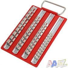 Metal socket plateau avec 1/4 3/8 & 1/2 pouces clips de rails boîte à outils rouleau cab