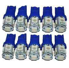 10Pcs T10 194 168 2825 5050 5SMD LED Super Bright Car Lights Lamp Bulb Blue COH
