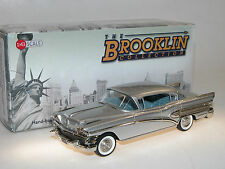 BROOKLIN MODELS BRK 155a 1958 Buick Roadmaster 75 4-Door Sedan, SILVER, 1/43 NUOVO