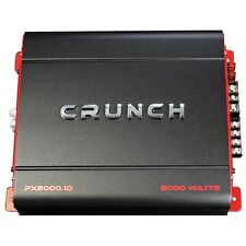 Crunch PX-2000.1D 2000 Watt Mono Powerful Car Audio Amplifier Amp BOOST SOUND!!