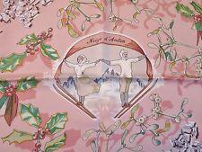 HERMES CARRE NEIGE D'ANTAN SOIE 90 CM PAR CATY LATHAM EN 2001