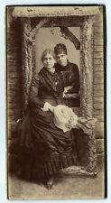 photo cdv carte cab. portrait de femme élégante robe 1900 et chapeau mode