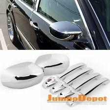 Fit 2005-2010 CHRYSLER 300/300C Chrome Side Door Handle + RearView Mirror Cover