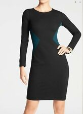 NWT NEW $139 Ann Taylor Colorblocked intersection ponte Dress Sz 0 P