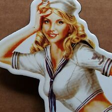 MARTINI Blondine PIN UP Emailschild MAKELLOS sexy Matrosin Logo vom RACING TEAM