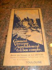 1930 GUIDE office des voyages de la depeche toulouse 3