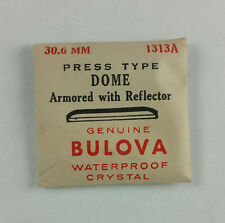 VINTAGE BULOVA PRESS TYPE DOME WATCH CRYSTAL w REFLECTOR - 30.6mm - PART# 1313A