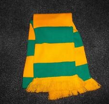 HORSE RACING SCARF GREEN AND GOLD