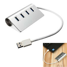 Portable 4-Port Aluminum USB 3.0 Hub High-Speed for Macbook Air PC Laptop Yun