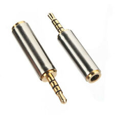 Headphone Phone Adapter Converter Audio Stereo Gold 2.5mm Male to 3.5mm Female