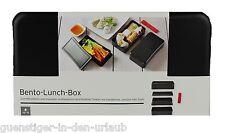 TCM Tchibo edle Bento Lunchbox Lunch Box Brotdose schwarz