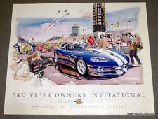 10 Posters - 1996 Dodge Viper  VOI Poster GTS RT/10 Indy 500 Pace Car