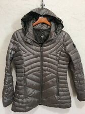 BERNARDO PETITE MEDIUM MIXED QUILTED PACKABLE DOWN PUFFER COAT NORDSTROM P481