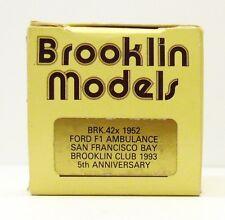 "BROOKLIN 1952 FORD F1 AMBULANCE "" SAN FRANCISCO BAY"" BRK. 42 X  EMPTY BOX ONLY"