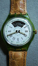 Rare Vintage Swatch Gran Via Automatic Watch SAG100 Glow in the Dark