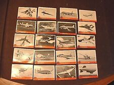 Lot of 21 1956 Topps Jet / Airplane Trade Cards