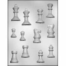 Chess Pieces Parts Game Chocolate Candy Mold  Create Design Board Game