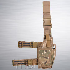 Tactical Drop Leg Assault Holster Genuine Multicam MTP Pattern - Military Grade